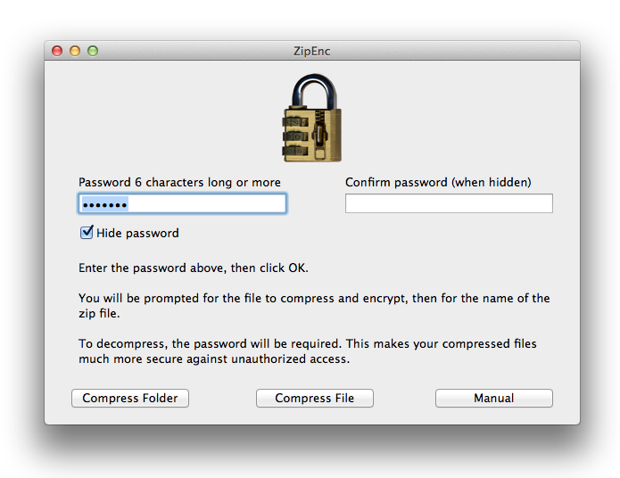 ZipEnc encrypted zip files for Mac OS X